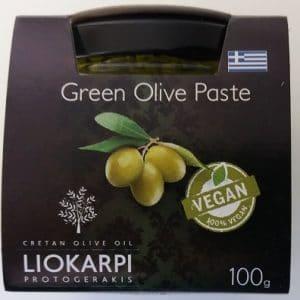 Olivade verte de Crète 100% naturelle, à l'ail et au thym