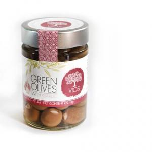 Olives biologiques vertes, farcies à l'ail