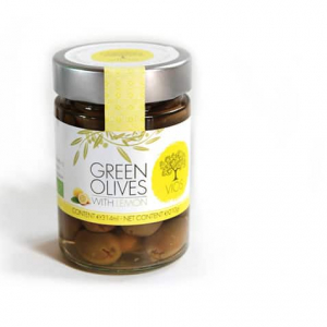 Olives biologiques vertes, farcies au citron